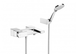 Roca 5a0101c00 L90 Wall Mounted Bath Shower Mixer And Kit