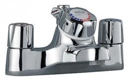 Mira Extra Thermostatic Bath Shower Mixer & Kit Chrome Plated/white