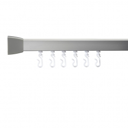 Croydex Gelson 85700 Mod 4 800 Shower Rail Silver 760x1675mm