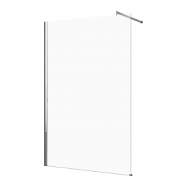 Novellini Kuadh150-1k Kuadra H 150 Adjustment Size 1470-1500mm Glass Chrome Plated