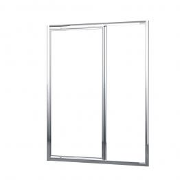 Novellini Lunesgf96-1k Lun Gandf Clear Glass Chrome