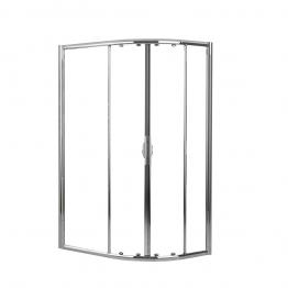 Novellini Lunesr80120-1k Lunes Clear Glass Chrome