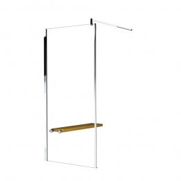 Novellini Gof88-1k Go Fixed Panel Clear Glass
