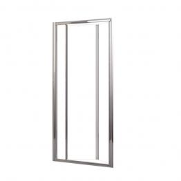Novellini Luness90-1k Lunes Clear Glass Chrome