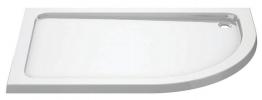 Iflo 1200 X 800 Mm Right Hand Offset Quadrant Abs Slimline Shower Tray