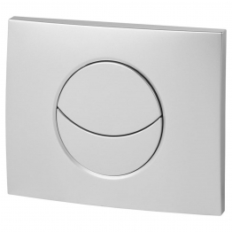 Wirquin 50718580 Pro Moon Matt Chrome Dual Flush Push Plate