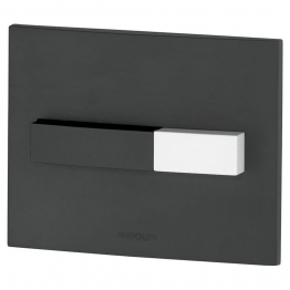 Wirquin Pro Line Black Dual Flush Push Plate With Black And White Push Buttons