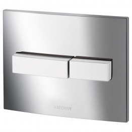 Wirquin 50717686 Pro Line Chrome Dual Flush Push Plate With Matt Push Buttons