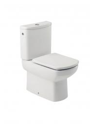 Roca Senso Compact Close Coupled Box Rim Wc Pan White And Chrome Plated