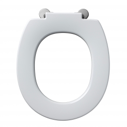Armitage Shanks S406601 Contour 21 Seat No Cover With Top Fixing Hinges & Retaining Buffers White