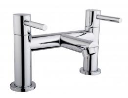 Iflo Aura Deck Bath Filler Tap Brass