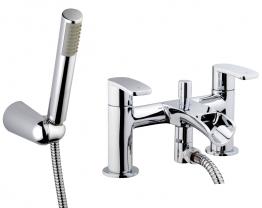 Iflo Waterscade Bath Shower Mixer Tap Brass With Shower Kit