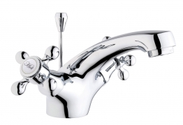 Iflo Tatton Monobloc Basin Mixer Tap Brass With Pop Up Waste