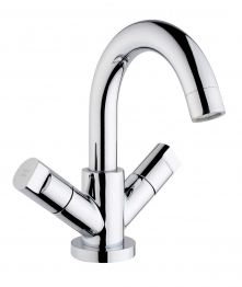 Iflo Spa Monobloc Basin Mixer Tap Brass With Pop Up Waste