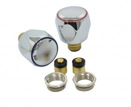 4trade Chrome Basin/sink Tap Heads