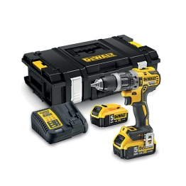 Dewalt Dcd796p2 Combi Drill 18 Volt Xr Brushless Compact Lithium-ion Complete With 2 X 5.0ah Batteries, Charger And Tstak Kitbox