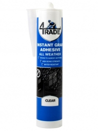 4trade All Weather Instant Grab Adhesive Clear 290ml