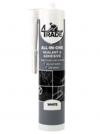 4trade All-in-one Sealant, Adhesive And Filler White 290ml