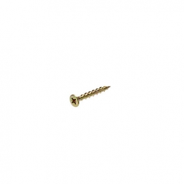 Bullet 5.0 X 30mm Gold Wood Screw (250)