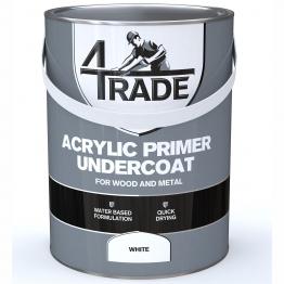 4trade Acrylic Primer Undercoat Paint White 5l