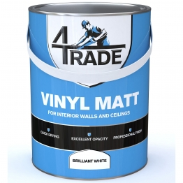 4trade Vinyl Matt Emulsion Paint Brilliant White 5l