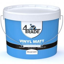 4trade Vinyl Matt Emulsion Paint Brilliant White 10l