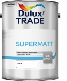 Dulux Trade Supermatt Emulsion Paint White 5l