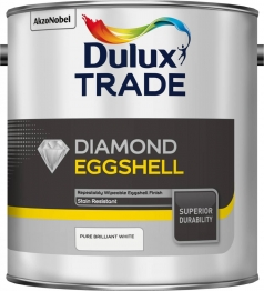 Dulux Trade Diamond Eggshell Paint Pure Brilliant White 2.5l