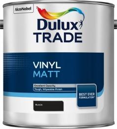Dulux Paint Trade Vinyl Matt Emulsion Black 2.5l