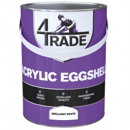4trade Acrylic Eggshell Brilliant White 5l
