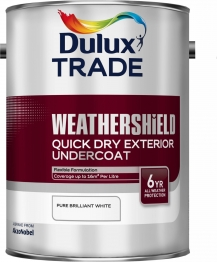 Dulux Weathershield Quick Dry Exterior Undercoat Pure Brilliant White 5l