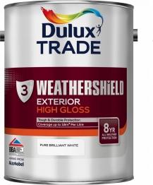 Dulux Paint Weathershield Gloss Pure Brilliant White 5l