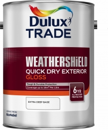 Dulux Trade Weathershield Quick Drying Exterior Gloss Extra Deep Base 5l