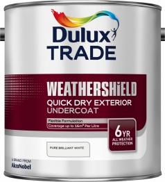 Dulux Weathershield Quick Dry Exterior Undercoat Pure Brilliant White 2.5l