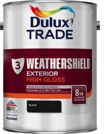 Dulux Weathershield Exterior Gloss Black 5l