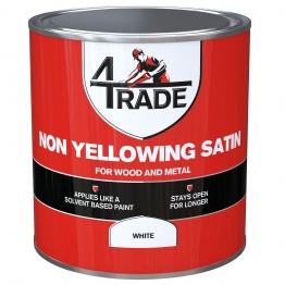 4trade Non Yellowing Satin 2.5l White