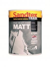Sandtex Masonry Paint Brilliant White Fine Textured External Matt 5l