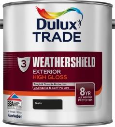 Dulux Paint Weathershield Gloss Black 2.5l