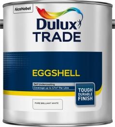 Dulux Trade Eggshell Paint Pure Brilliant White 2.5l
