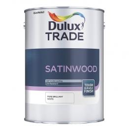 Dulux Trade Satinwood Paint Pure Brilliant White 1l