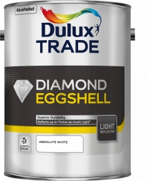 Dulux Diamond Eggshell Light & Space Absolute White 5l