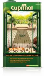 Cuprinol Uv Guard Decking Oil Natural Oak 5l