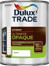 Dulux Trade Weathershield Ultimate Opaque White 1l