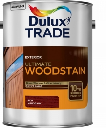 Dulux Trade Weathershield Ultimate Woodstain Rich Mahogany 5l