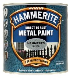 Hammerite Hammered Silver Grey 2.5l