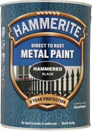 Hammerite Hammered Black 5l