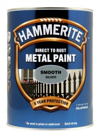 Hammerite Metal Paint Smooth Silver 5 Litre