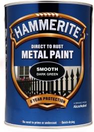 Hammerite Metal Paint Smooth Dark Green 5 Litre