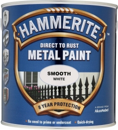 Hammerite Metal Paint Smooth White 2.5 Litre