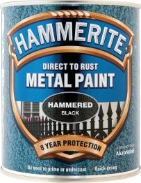 Hammerite Metal Paint Hammered Silver Grey 400ml Aerosol